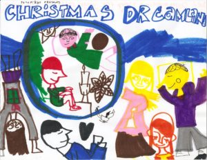 "Jackson's ""Christmas Dreamland,"" Marker on Paper, 2014"